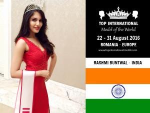 Miss India Top International Model 2016